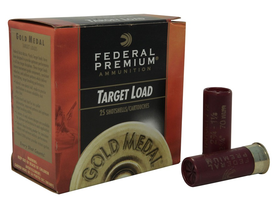 "Federal Premium Gold Medal Ammunition 12 Gauge 2-3/4"" 1-1/8 oz #7-1/2 Shot Case of 250 ..."
