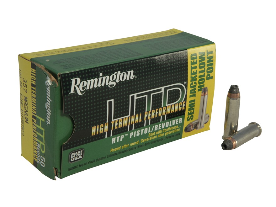 Remington High Terminal Performance Ammunition 357 Magnum 180 Grain Semi-Jacketed Hollo...