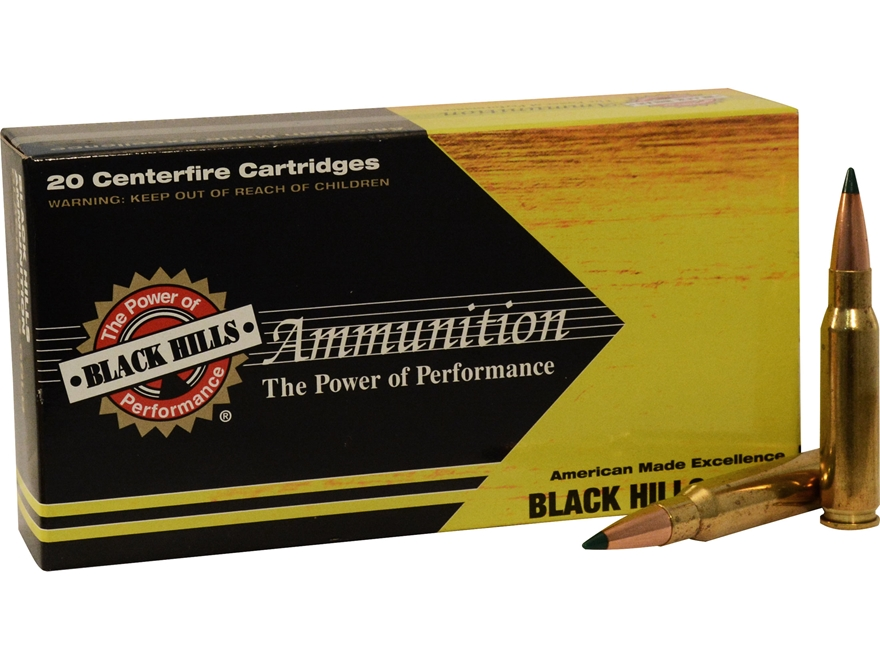Black Hills Gold Ammunition 308 Winchester 155 Grain Sierra Tipped MatchKing Box of 20