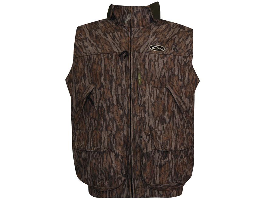 Drake Men's MST Refuge HS Waterproof Vest Polyester Mossy Oak Bottomland Camo XL