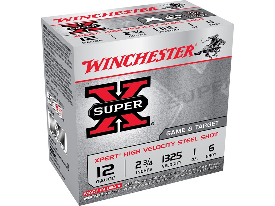 "Winchester Xpert Upland Game and Target Ammunition 12 Gauge 2-3/4"" 1 oz #6 Steel Shot"