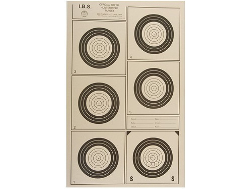 National Target International Bench Rest Shooters Target IBS 100 YD Hunter Rifle Paper ...
