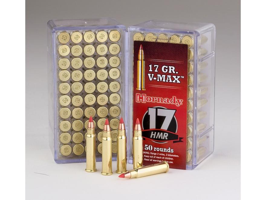 Hornady Varmint Express Ammunition 17 Hornady Magnum Rimfire (HMR) 17 Grain V-Max Box o...