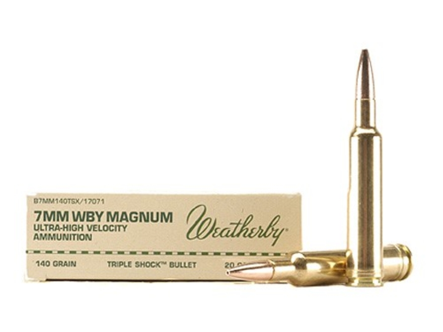 Weatherby Ammunition 7mm Weatherby Magnum 140 Grain Barnes Triple-Shock X Bullet Hollow...