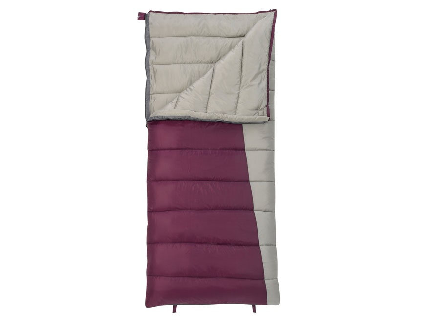 Slumberjack Women's Jenny 20 Degree Sleeping Bag Polyester Potent Purple