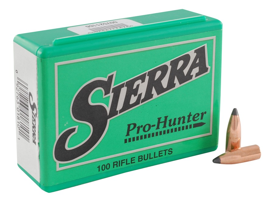 Sierra Pro-Hunter Bullets 270 Caliber (277 Diameter) 110 Grain Spitzer Box of 100