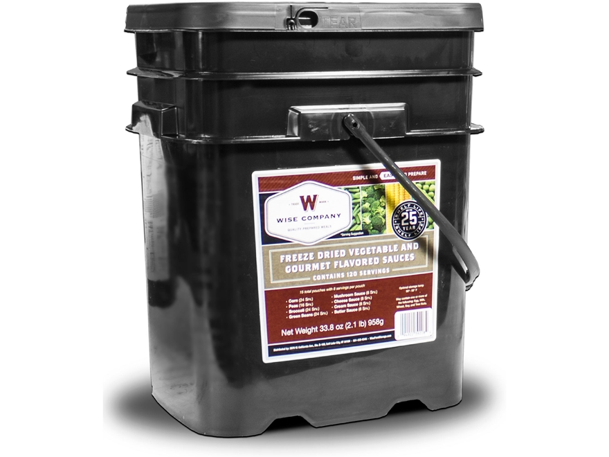 Wise Food Stocking Up 120 Serving Vegetable Supply Freeze Dried Food Bucket