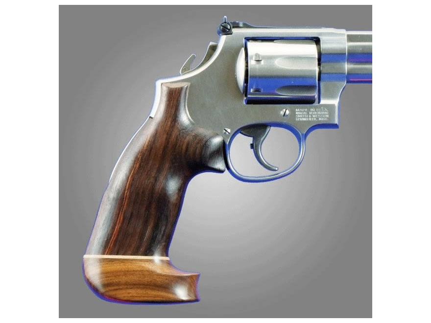 Hogue Fancy Hardwood Grips with Accent Stripe Colt Trooper Mark III Oversize