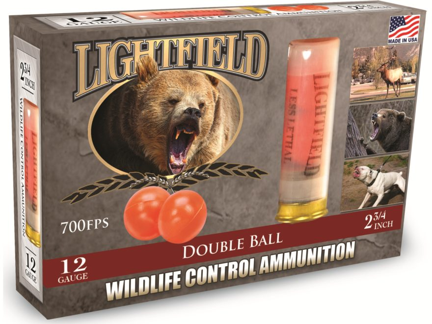 "Lightfield Wildlife Control Less Lethal Ammunition 12 Gauge 2-3/4"" Mid-Range Rubber Bal..."