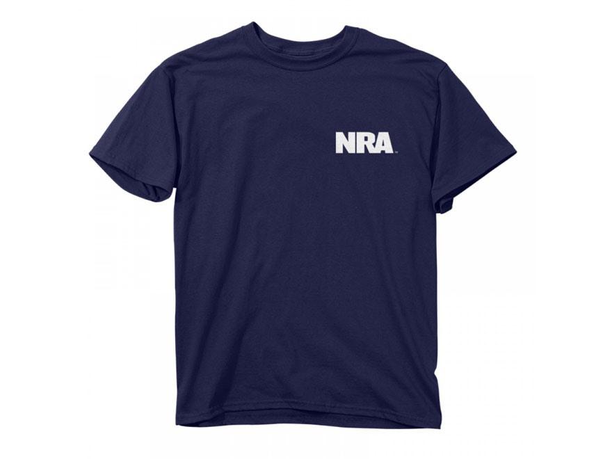 NRA Men's Keep Calm Carry Guns T-Shirt Short Sleeve Cotton Navy