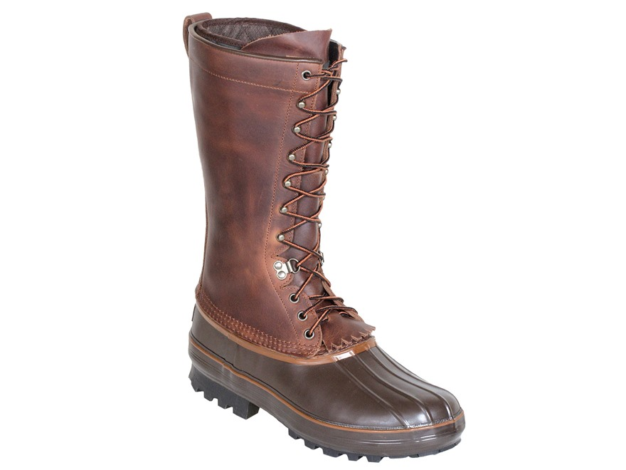 "Kenetrek Grizzly 13"" 400 Gram Insulated Waterproof Pac Boots Leather and Rubber Brown M..."