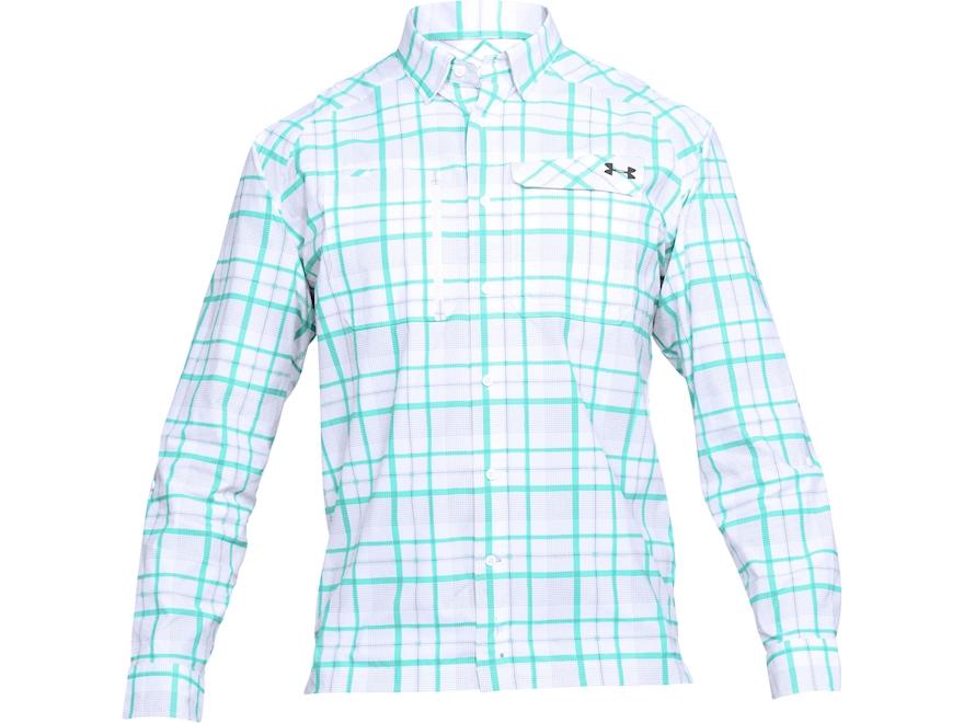 Under Armour Men's UA Fish Hunter Plaid Button-Up Shirt Long Sleeve Nylon