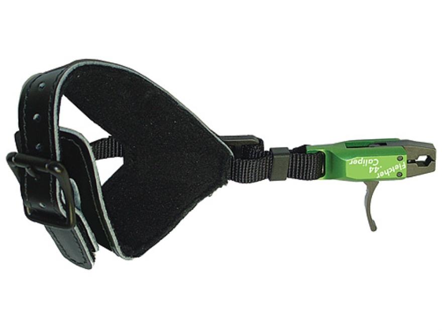 Jim Fletcher .44 Caliper Deluxe Bow Release Buckle Wrist Strap Green and Black
