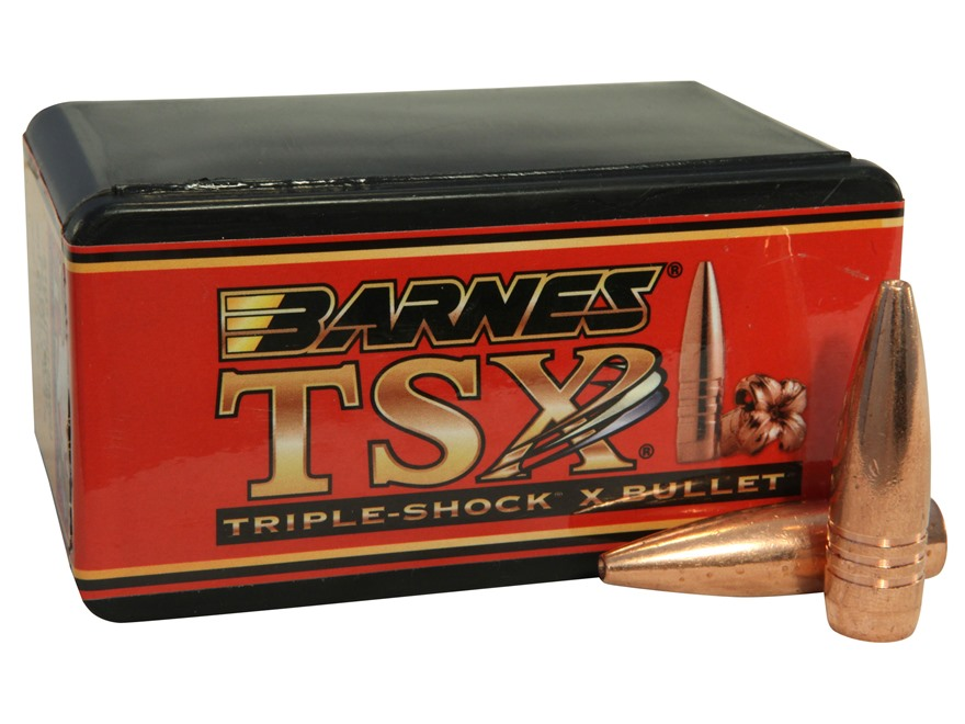 Barnes Triple-Shock X (TSX) Bullets 50 BMG (510 Diameter) 647 Grain Hollow Point Boat T...