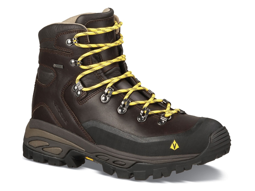 "Vasque Eriksson GTX 5"" Waterproof Hiking Boots Leather Coffee Bean and Primrose Yellow ..."