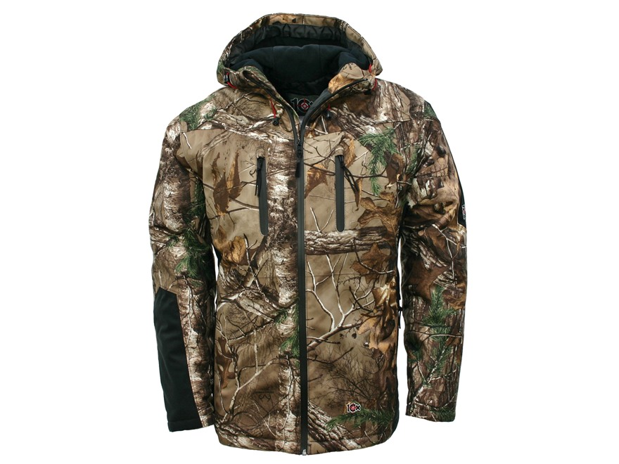 10X Men's ScenTrex Scent Control Waterproof Insulated Parka Polyester Realtree Xtra Cam...