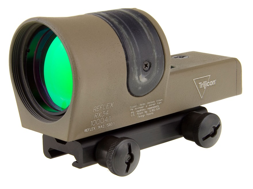 Trijicon RX34-C Reflex Sight 1x 42mm 4.5 MOA Dual-Illuminated Amber Dot with TA51 Mount...