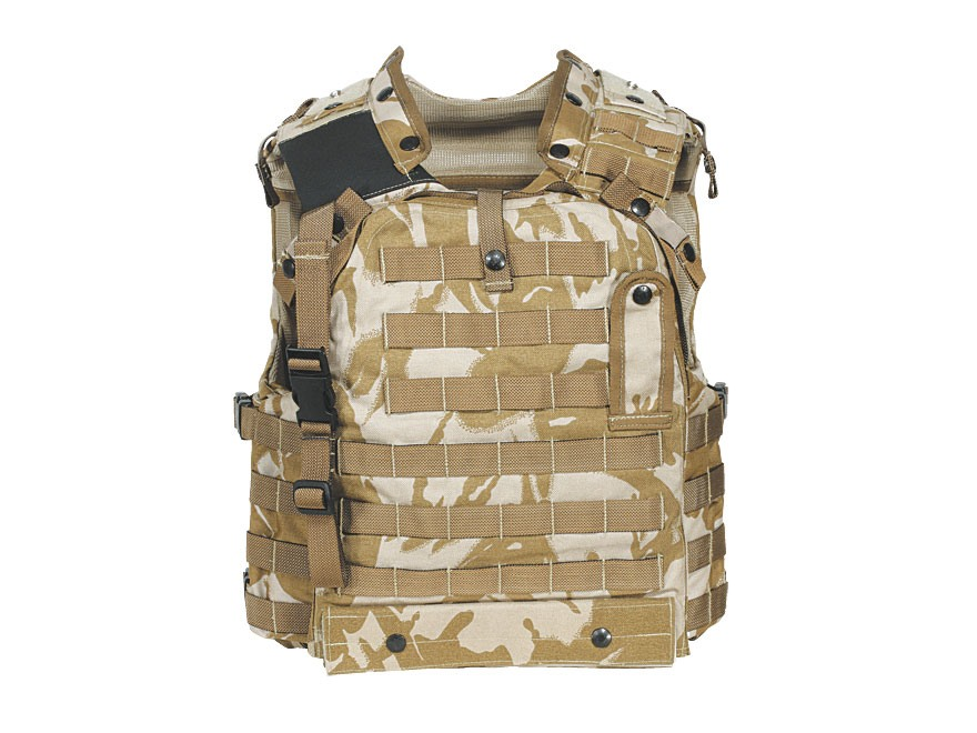 Military Surplus New Condition British Osprey MK III Body Armor Cover Desert DPM Camo E...