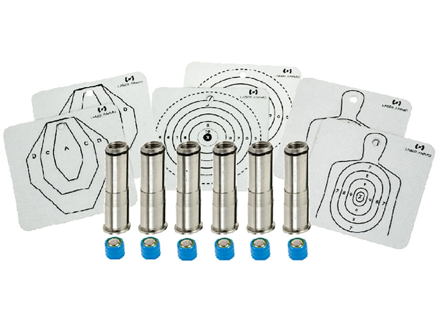 Laser Ammo SureStrike Laser Trainer Cartridge 38 Special, 357 Magnum Revolver Pro Six Pack