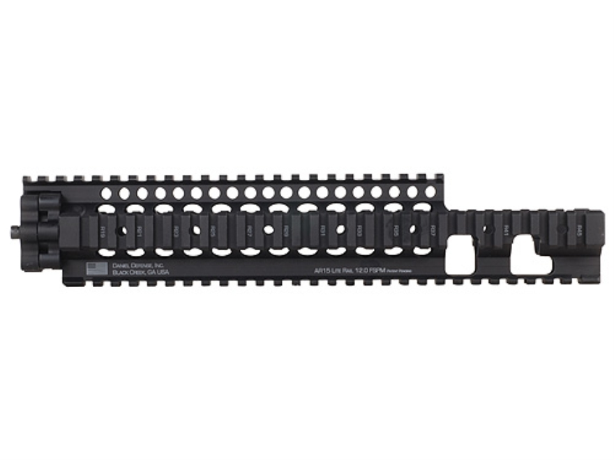 Daniel Defense Lite Rail 12.0 FSPM Free Float Tube Handguard Quad Rail AR-15 Extended M...