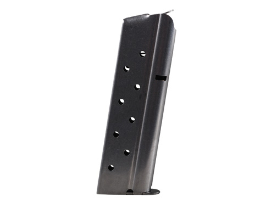 Metalform Magazine 1911 Government, Commander 40 S&W 8-Round Stainless Steel Matte Flat...