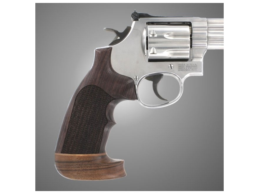 Hogue Fancy Hardwood Grips with Accent Stripe and Top Finger Groove Dan Wesson Small Fr...