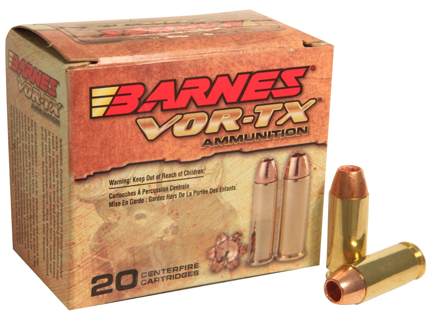 Barnes VOR-TX Ammunition 10mm Auto 155 Grain XPB Hollow Point Lead-Free Box of 20