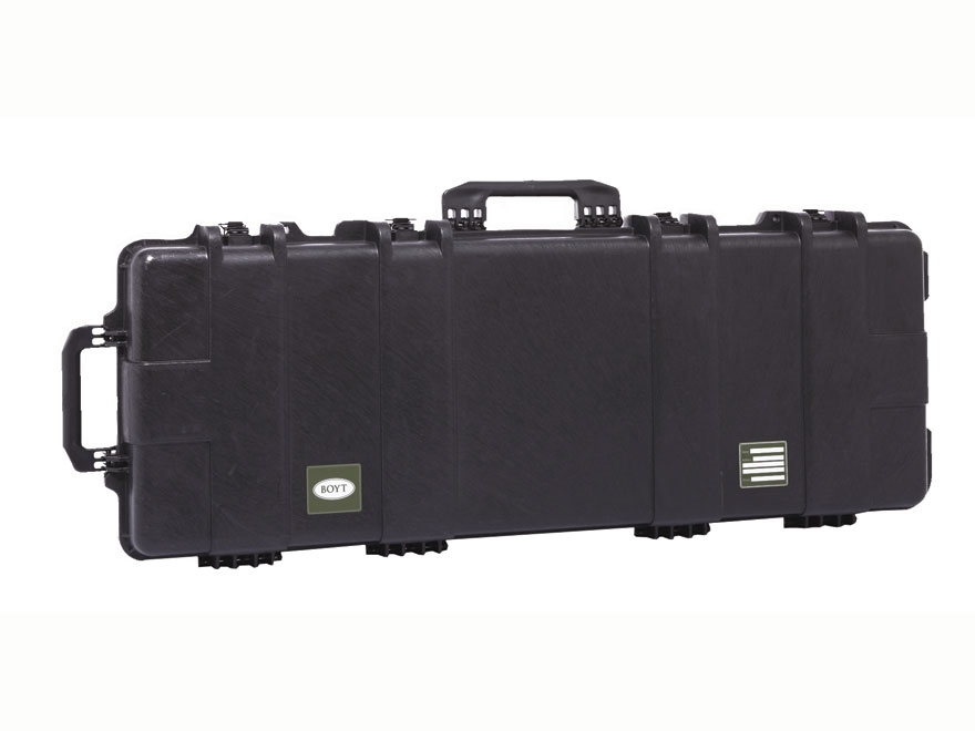 "Boyt H44 Compact Rifle Case with Solid Foam Insert and Wheels 47"" Polymer Black"