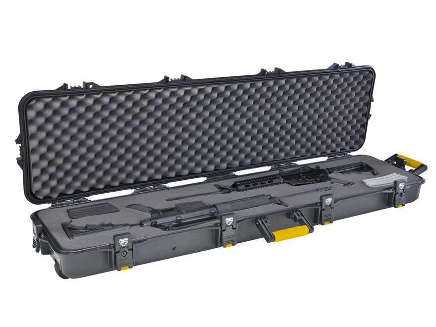 "Plano Gun Guard AW Series Double Scoped Rifle Case with Wheels 52"" Polymer Black"