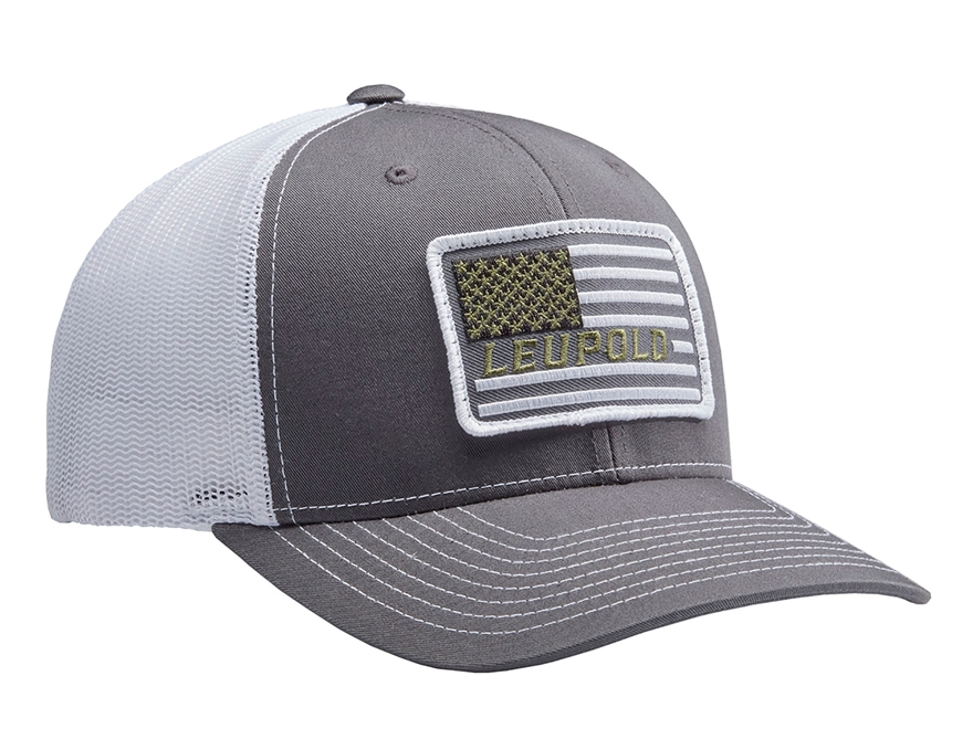 Leupold Flag Patch Logo Trucker Hat Polyester Mpn 172603