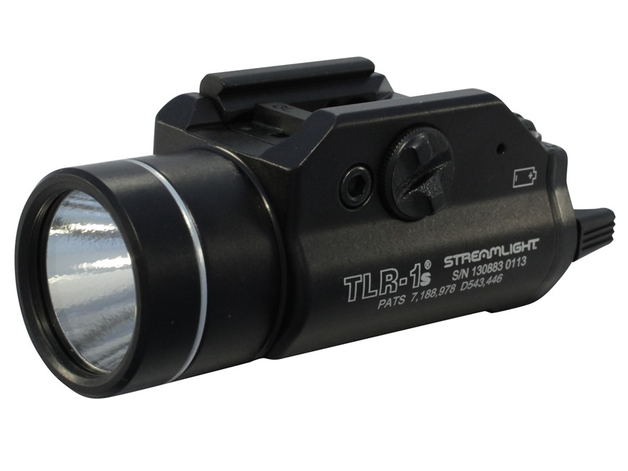 Streamlight TLR-1S Weaponlight LED with 2 CR123A Batteries fits Picatinny and Glock Rai...
