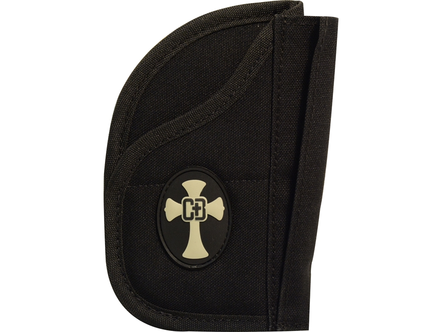 CrossBreed Soft Side Holster with Hook-&-Loop for Pac Mat and Bedside Backup Nylon Black