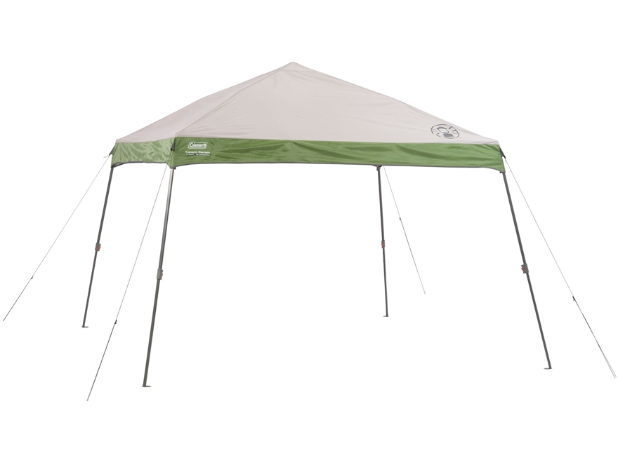 "Coleman 144"" x 144"" Wide Base Instant Shelter Green and White"