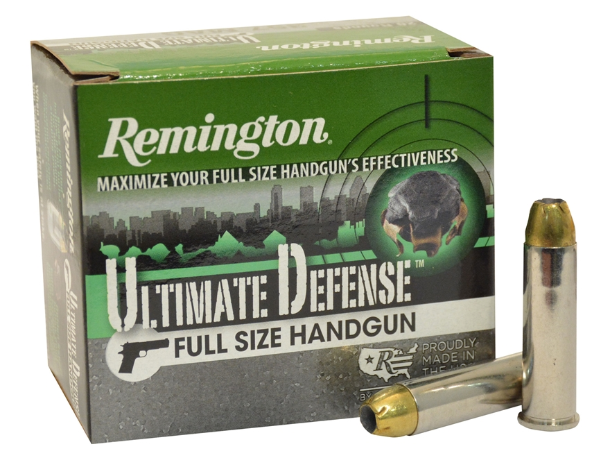 Remington HD Ultimate Defense Ammunition 357 Magnum 125 Grain Brass Jacketed Hollow Poi...
