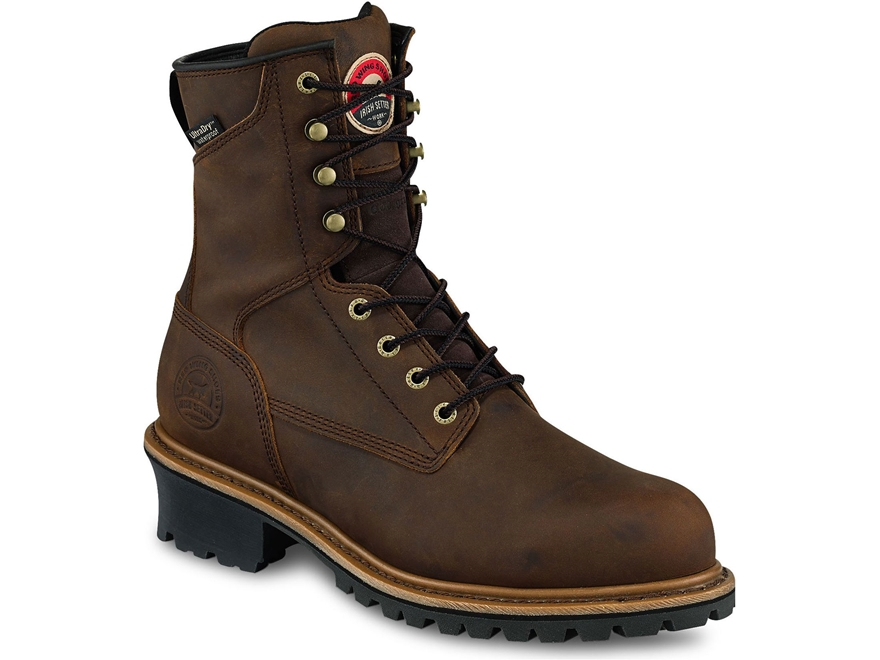 "Irish Setter Mesabi 8"" 600 Gram Insulated Waterproof Steel Toe Work Boots Leather Men's"