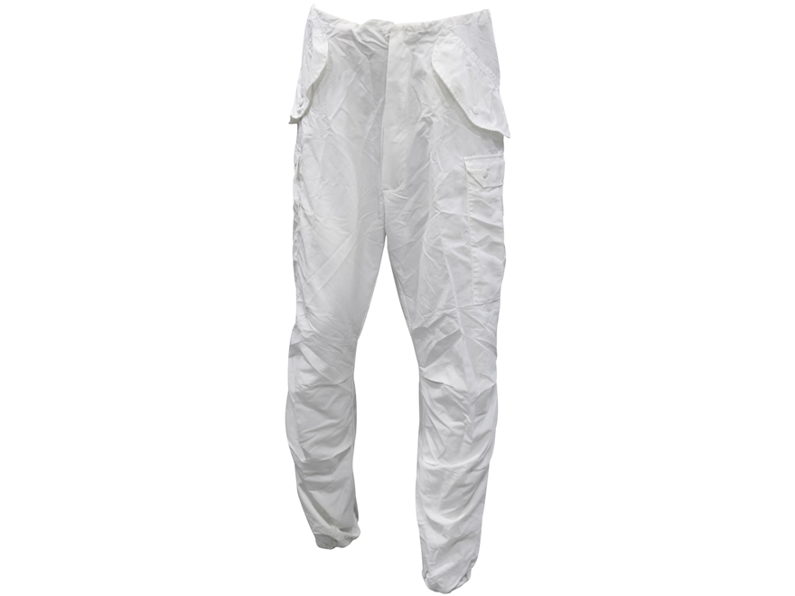 Military Surplus M-65 Arctic Trousers with Liner Grade 1 Nylon Snow Camo Large