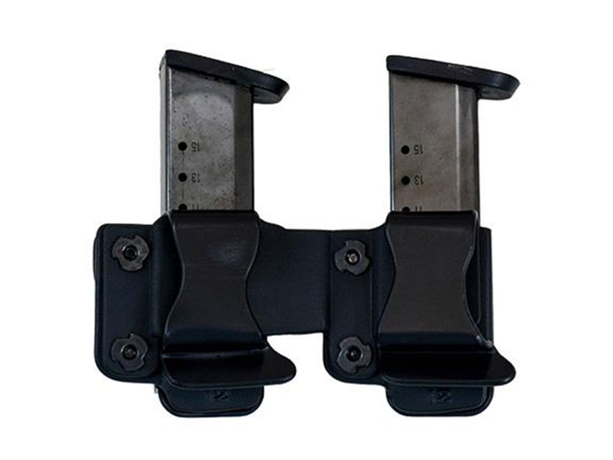 "Comp-Tac Twin Magazine Pouch 1.5"" Belt Clip Kydex Black"