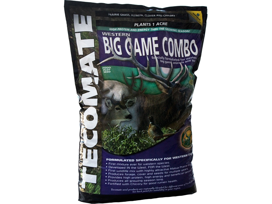 Tecomate Western Big Game Combo Perennial Food Plot Seed 15 lb