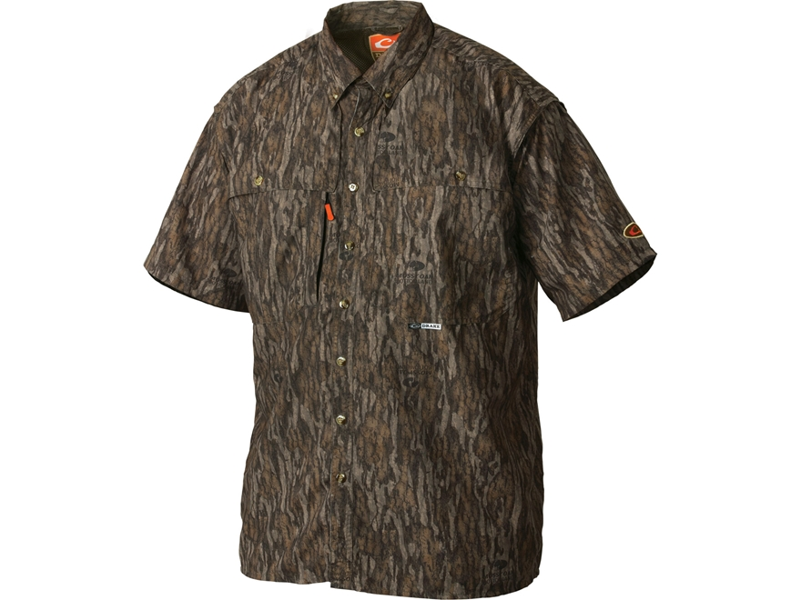 Drake Non-Typical Men's Dura-Lite Scent Control Button-Up Shirt Short Sleeve Polyester