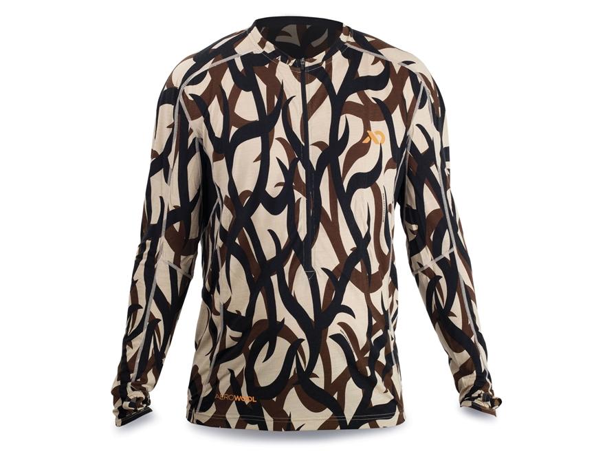 First Lite Men's Wilkin QZ 1/2 Zip Base Layer Shirt Long Sleeve Aerowool Blend