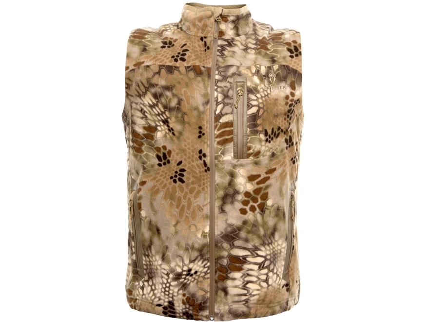 Kryptek Men's Vellus Insulated Fleece Vest Polyester Highlander Camo