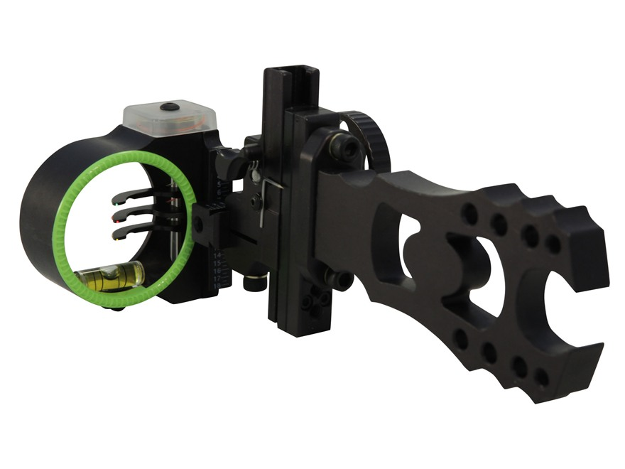 "Black Gold Ascent 3-Pin Bow Sight .019"" Pin Diameter Right Hand Aluminum Black"