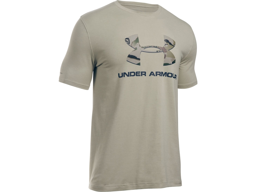 Under Armour Men's UA Camo Fill Logo T-Shirt Short Sleeve Poly/Cotton Blend