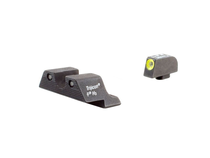 Trijicon HD Night Sight Set Glock 17, 19, 22, 23, 24, 26, 27, 33, 34, 35 Steel Matte 3-...