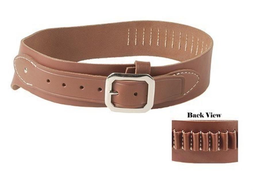 Oklahoma Leather Cowboy Drop-Loop Cartridge Belt 38, 357 Caliber Leather Brown XL