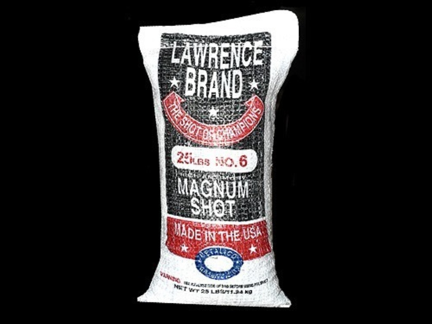 Lawrence Magnum Lead Shot #6 25 lb Bag