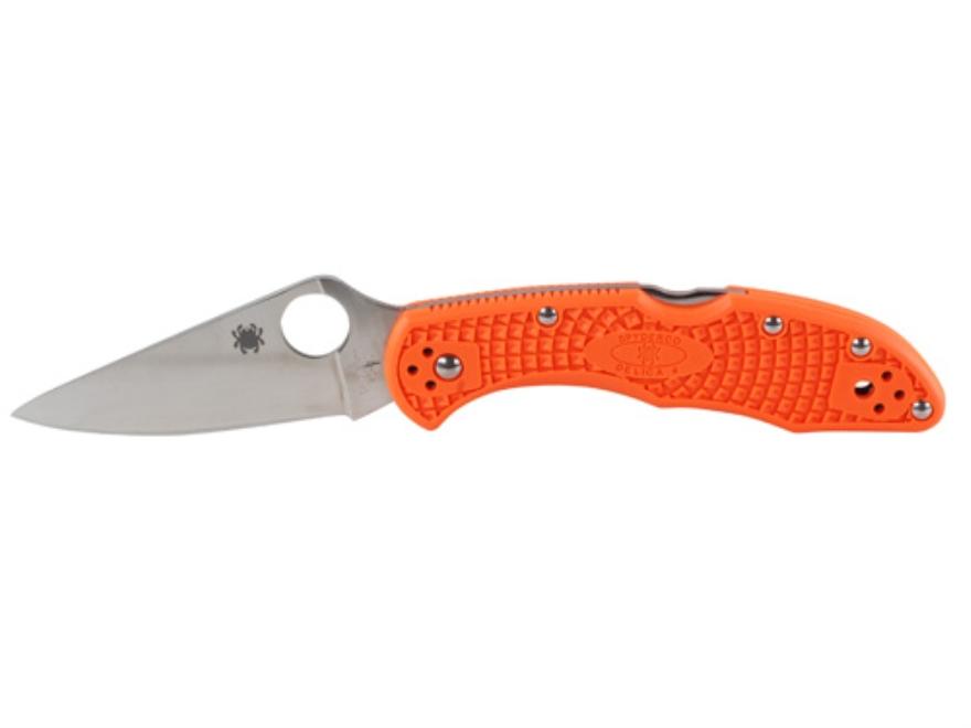 "Spyderco Delica 4 Folding Pocket Knife 2.875"" Full Flat Grind VG-10 Stainless Steel Bla..."