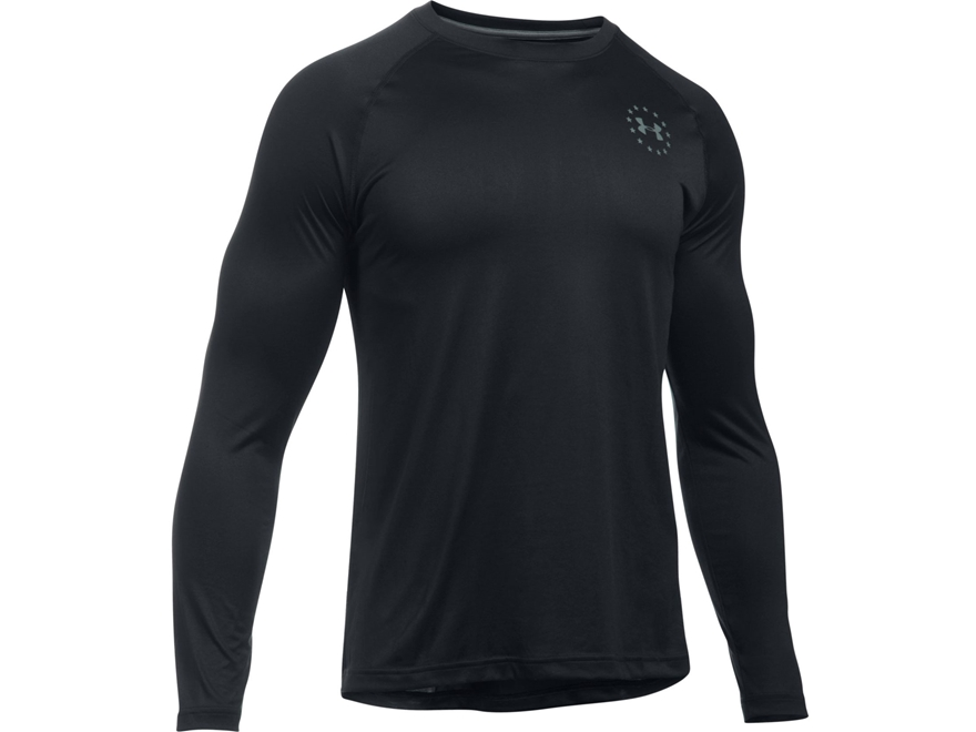 Under Armour Men's UA Freedom Tech T-Shirt Long Sleeve Polyester Black Large