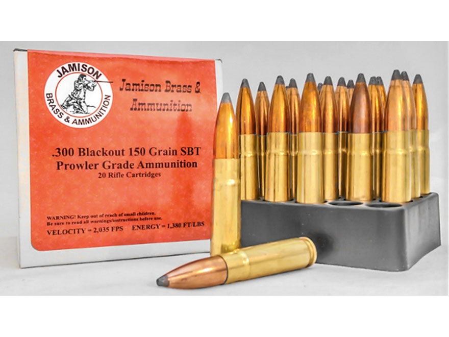 Jamison Ammunition 300 AAC Blackout 150 Grain Soft Point Boat Tail Box of 20