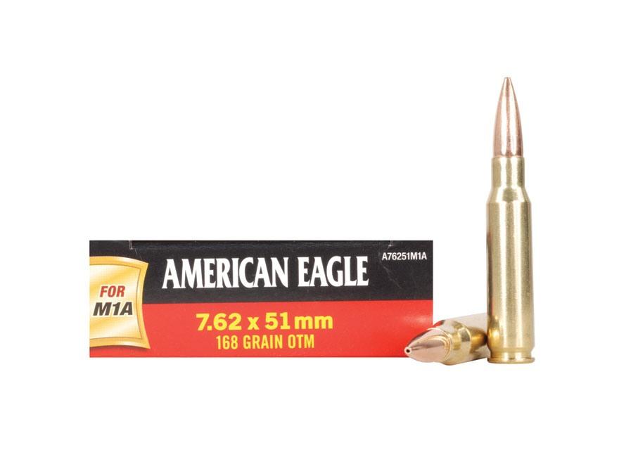 Federal American Eagle Ammunition 7.62x51mm NATO 168 Grain Open Tip Match